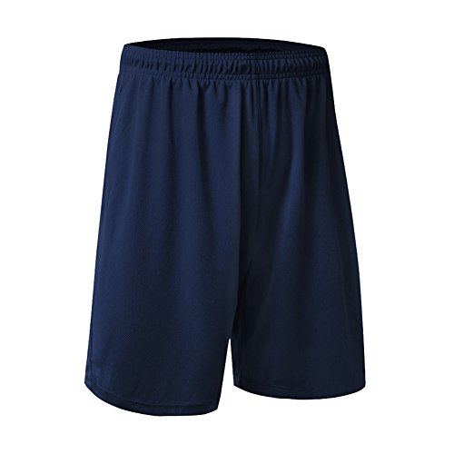 West See Herren Sport Hose Trainingshose Baumwoll Basic Shorts Fitness Kurzhose Sporthose Bermudas Jogg Sportshorts Elastisch Freizeithose Laufhose Blau