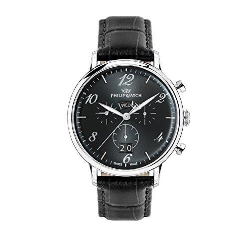 PHILIP WATCH Reloj Cronógrafo para Hombre de Cuarzo con Correa en Cuero R8271695002
