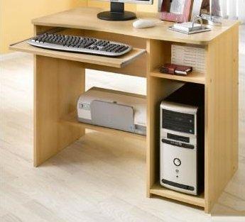 2-1-3-589: made in BRD - PC Tisch - Bürotisch - Computertisch -buche dekor