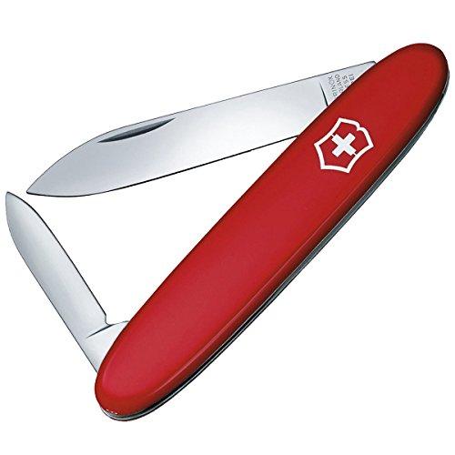 Victorinox Excelsior Taschenmesser, 3 Funktionen, 2 Klingen, Schlüsselanhänger, rot -