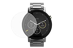 Prosper Round edge 2.5 D Tempered glass for Moto 360 (2nd Gen) Smartwatch (46mm)(Pack Of 2)