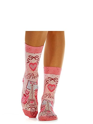 Wigglesteps Damen Socken - 036 Sweet Bright Paris (1010-01179-650) Glamour Strass