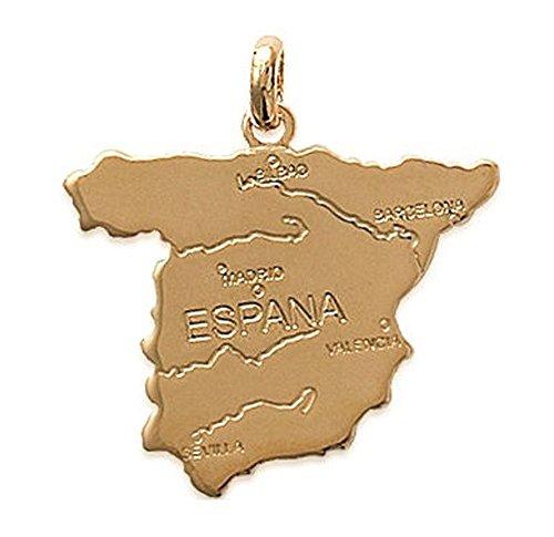 Land Swag (Anhänger, vergoldet–Spanien–Land–Spanisch–Unisex-Schmuck)