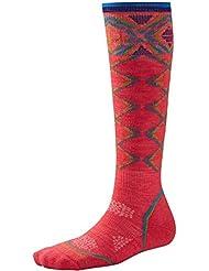Smartwool PHD Chaussettes de ski légères pour femme Gris moyen à motifs