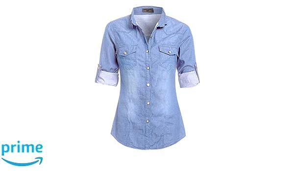 46229e4fe875c SS7 Chemisier - Col Chemise Classique - Femme: Amazon.fr: Vêtements et  accessoires