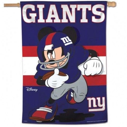 Wincraft NFL New York Giants Mickey Mouse Vertikale Flagge, 71 x 102 cm