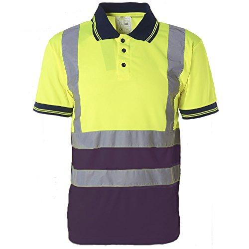 Pro Work Herren Poloshirt S YELLOW / NAVY