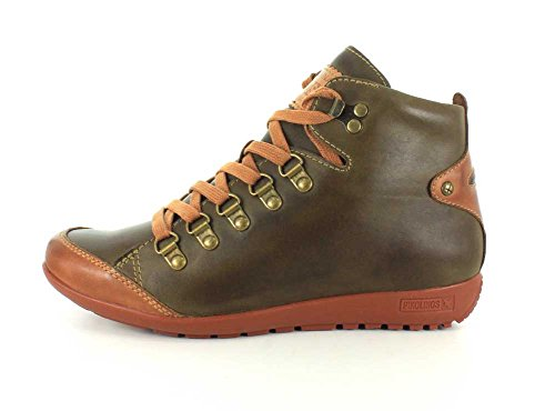 Pikolinos Womens W67-7667C2 Lisboa Brandy Leather Boots Mousse