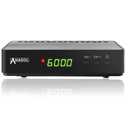 Anadol HD 200 Plus HD HDTV digitaler Satelliten-Receiver (HDTV, DVB-S2, HDMI, SCART, 2x USB 2.0, Full HD 1080p, Youtube) [vorprogrammiert] inkl. HDMI Kabel - schwarz