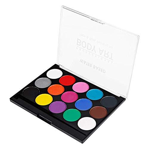 Fliyeong Kit 15 u0026 Körperbemalung Party Painting Face Paint Mit Easy Wash to Face und Farben von hoher Qualität -