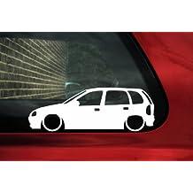 bajar de silueta de coche – adhesivo para Opel Corsa ...