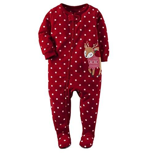 Culater® Newborn Neonata infantile Deer maniche lunghe pagliaccetto tuta Outfits