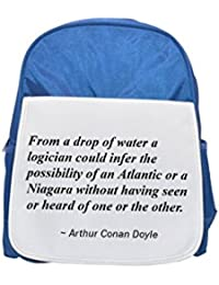 De una gota de agua un logician podría infer la posibilidad de un Atlántico o un Niagara sin haber visto ni oído de uno o la other. impreso Kid…