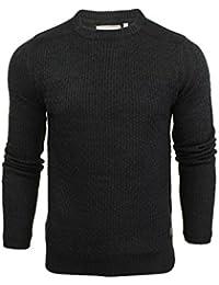 Pull avec tricot jacquard et patchs sur les épaules par Brave Soul pour homme
