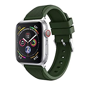 Mens Sports Digital Watch, Sports Soft Silicone Replacement Watch Band Strap for Apple Watch Series 4 44MM