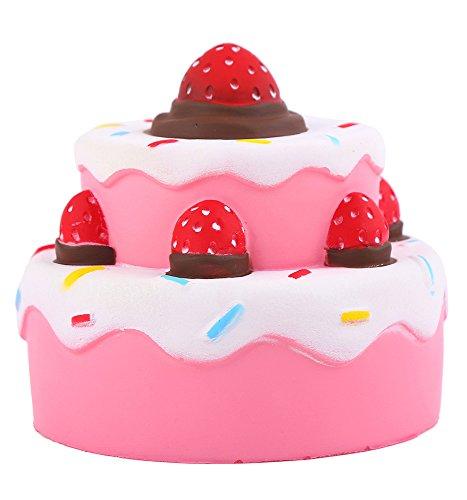 Fengke Doppelkuchen cake kawaii Squishy Jumbo matschig Stress Spielzeug Scented Soft Slow Steigende Hand Kissen Quetschen Spielzeug Geschenk