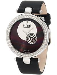 Burgi BU42BK - Reloj de cuarzo para mujeres, color negro
