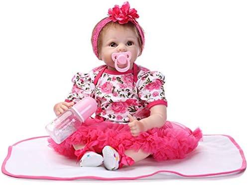 Wafalano Wafalano Wafalano Belle 55cm Complet Doux Corps en Silicone Reborn Poupée Jouet Nouveau-Né Princesse Filles Robe Rose Bébés Poupée Jouet Cadeau B07KXW5GXW dabf3a