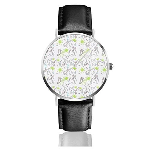 Reloj de Pulsera de Cuarzo con diseño de Elefantes, Color marrón, Gris,...