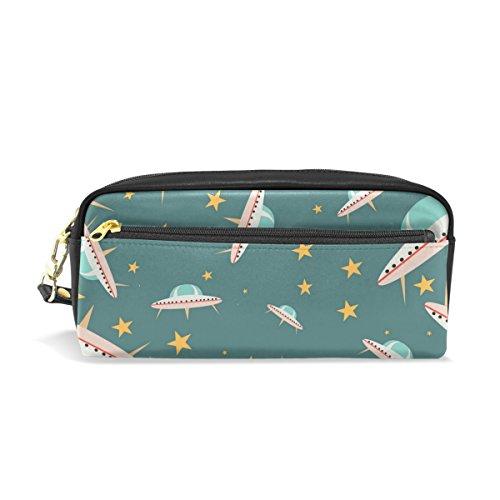 Ufo-radierer (isaoa Großer Kapazität Reißverschluss Bleistift Box Stationery Supplies für Jungen Mädchen Student Big Kapazität Creative Camouflage Bleistift Fall Geheimnisvolle UFO Pencil-Bag)