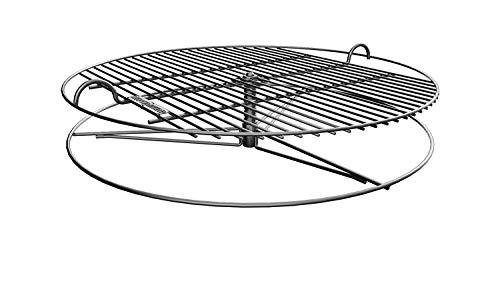 GrillUp Höhenverstellbar BBQ Grillrost | 100% Edelstahl | Passend für Weber und Andere 57cm (22