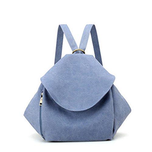 Korean Style Mutifunction Segeltuch Backpack for Girls School Bags Fashion Ladies Messenger Backpacks Double Shoulder Bag Blue Canvas Bags