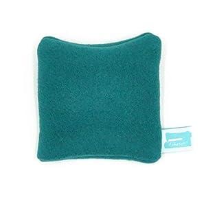 Bezug für Kühlpack, 10cm x 10cm, Hülle für Rapssamenkissen Taschenwärmer, Mini Kissenhülle aus Fleece Petrol