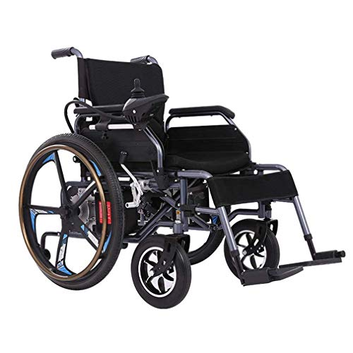 KPLMⓇ Leichter Faltbarer Doppelfunktions-Elektrorollstuhl (Li-Ion-Akku 20A), Mit Elektrischem Antrieb Oder Als Manueller Rollstuhl Verwendbar