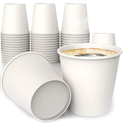 MGGI Trading Lot 100 Gobelets Carton écologique 4 oz (Espresso) - 100pcs Paper Cups for Hot/Cold Drinks Unique Design