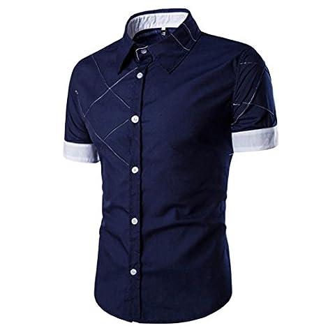 Beauté Top Mode Pour Hommes Slim Fit Chemise à Manches