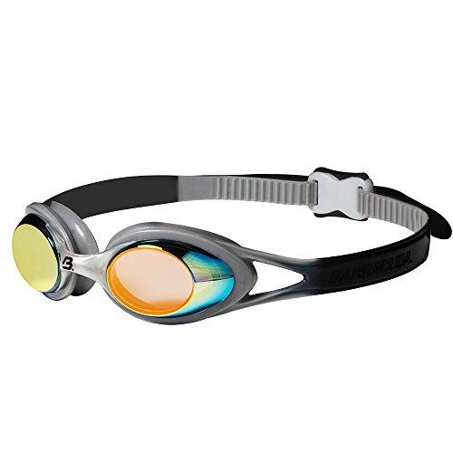 Barracuda Carnaval JR Mirror - Schwimmbrille für Kinder und Jugendliche 7-15 mit 100% UV-Schutz, Anti-Beschlag-Beschichtung, Wasserdicht #34710 Orange (Black) - Speedo Goggles Jr