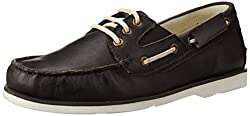 U.S. Polo Assn. Mens Dark Brown Leather Boat Shoes - 11 UK/India (45 EU)