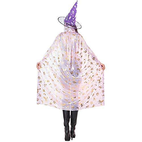 Hunde Monster Kostüm Pink - Meiju Unisex Umhang Kleid mit Kapuze Lange Cape Vampir Kostüm Halloween Erwachsener Damen Cosplay Umhang Prop für Halloween Masquerade (140 cm,Pink)