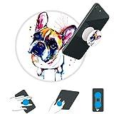 hondus-Standplatz und Griff für Smartphones und Tablets Phone Kickstand für Jungen und Mädchen-Hund Wanze Aquarell-Weiße Basis