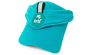 Trtl Pillow - Scientifically Proven Super Soft Neck Support Travel Pillow - Machine Washable (Child, Aqua Pop)