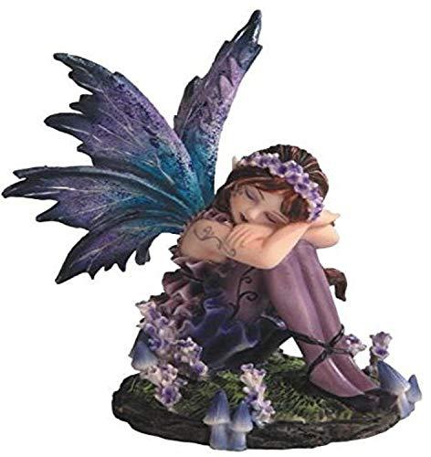 StealStreet ss-g-91587Young Blau und Violett schlafende Fee in Garten Figur, klein
