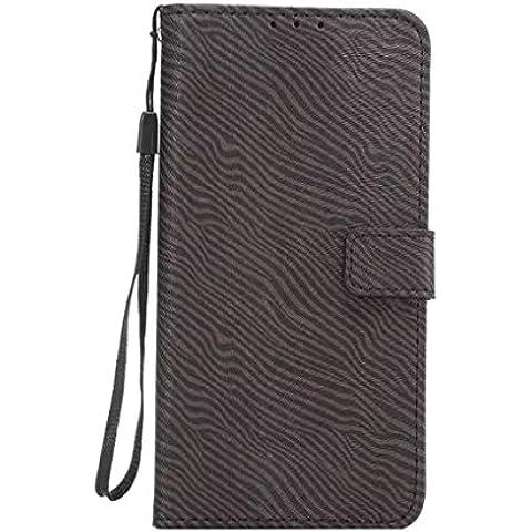 Vollter Zebra Custodia Stripe per Samsung bordo S6 più stand raccoglitore della carta di copertura Slot flip