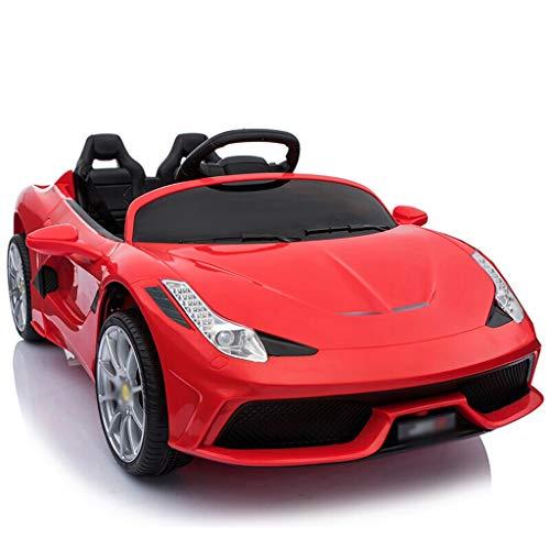 Telecomando per bambini Auto sportiva Auto elettrica Può sedersi per bambini Giocattolo per bambini Auto Drive + Telecomando + Altalena Porta idraulica + Ventola