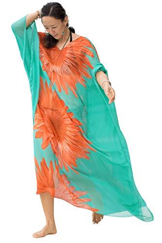 Vestido Boho Mujer Largo Talla Grande Camisolas Pareos
