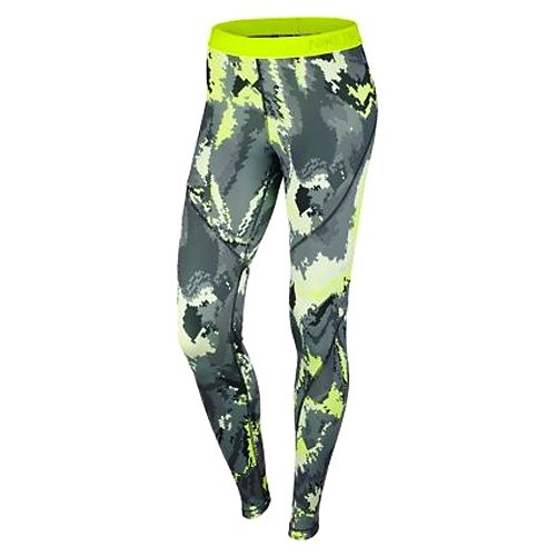 Nike W NP hprwm tght Oil Glitch–Collant pour femme Seaweed/Hasta/Blanc