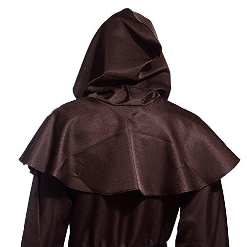 Imagen de pagan medieval cubierta cosplay con capucha cosplay disfraz de custome campana cubierta marrón , marrón, talla única alternativa