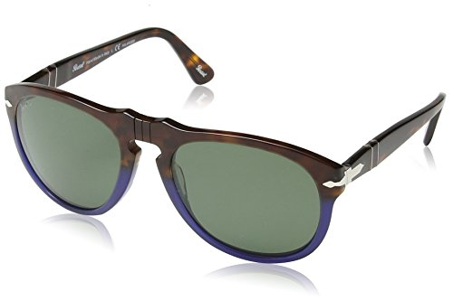 Persol Unisex PO0649 Sonnenbrille, Mehrfarbig (Terra e Oceano/Crystal polar green internal anti-glare-treatment 102258), Medium (Herstellergröße: 54)