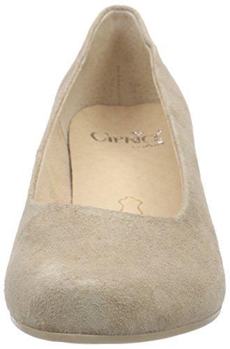 Caprice22416 - Scarpe con Tacco Donna Beige (Beige (BEIGE SUEDE 404))