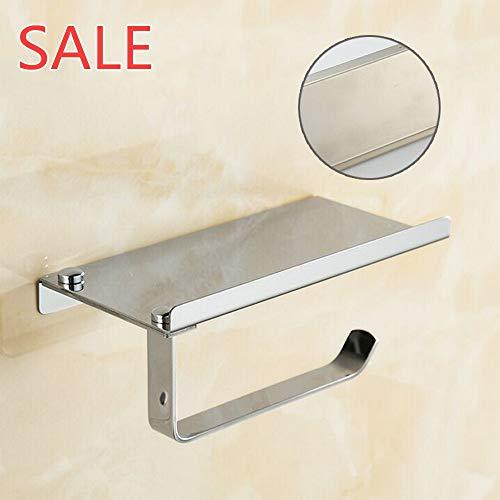 NIBESSER Toilettenpapierhalter ohne Bohren, Patentierter Kleber + Selbstklebender Kleber, Aluminium, Matte Finish, 9x18x7 cm