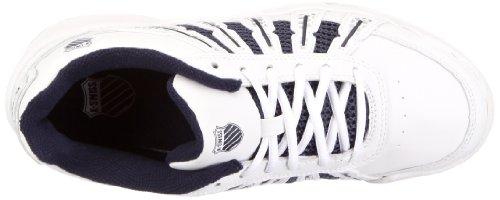 K-Swiss OPTIM II CARPET 52569-167-M Unisex - Kinder Sportschuhe - Tennis Weiss/White / Navy / Silver
