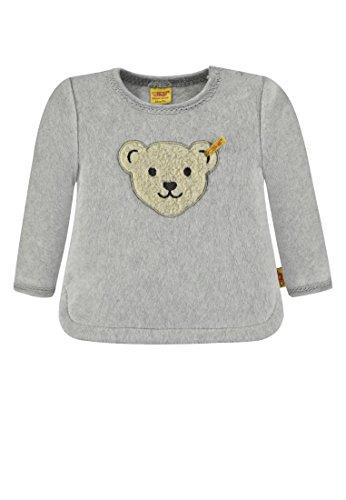 Steiff Baby-Mädchen 1/1 Arm Fleece Sweatshirt, Grau (Snow Grey Melange|Gray 8359), 68 -