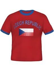 Brubaker Tschechien Fan T-Shirt Rot Gr. S - XXXL