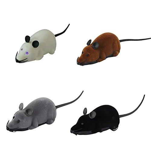 Demiawaking 1pcs Topo Telecomandato RC Ratto Wireless per Cane Gatto Giocattolo Divertente Regalo della Novità