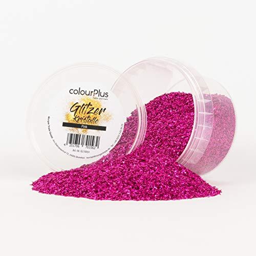 colourPlus Glitzer Kristalle (250g Dose, Pink) Glitter-Zusatz zum Veredeln von Wandfarben auf Wasserbasis oder zum Basteln, Made in Germany
