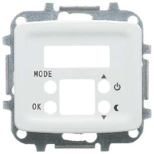 Niessen Bogen-Deckel Thermostat + Thermometer weiß elfenbein - Elfenbein-thermometer